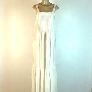 Johnny Was Jade Kalif Pintucked Maxi Dress White S